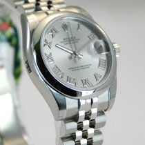 Rolex DateJust SS Jubilee Roman Dial w/Box+Papers-178240