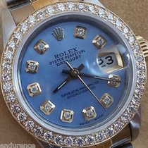 Rolex Datejust Two Tone Mother Of Pearl Blue Diamonds Dial...