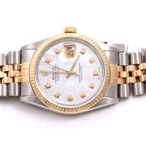 Rolex Mens 18K/SS Datejust MOP Diamond Dial, Jubilee Band,...