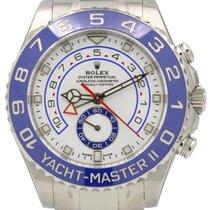 Rolex Yacht-Master II 116680 Mercedes Hands Blue Ceramic...
