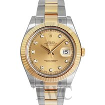 Rolex Datejust II Champagne/18k gold Ø41 mm - 116333