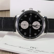 IWC PORTOGHESE CHRONO 3714 PANDA DIAL FULL SET