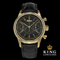 Alpina 130 Startimer Pilot Heritage Black and Gold Chronograph