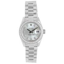 Rolex 950 Platinum Ice Blue & Diamond Dial Ladies Presiden...