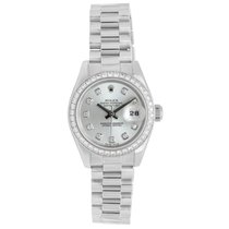 Rolex 950 Platinum Ice Blue & Diamond Dial Ladies Presiden...