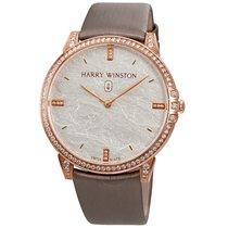 Harry Winston 18K Rose Gold Diamond Automatic Ladies Watch
