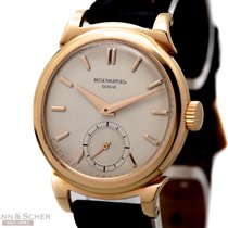 Patek Philippe Vintage Calatrava Scroll Lugs 18k Rose Gold...