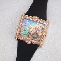 Harry Winston Avenue Square Rose Gold Diamonds Watch