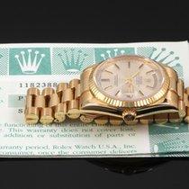 Rolex 118238, Silver Stick Dial w Box & Paper