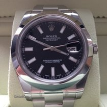 Rolex Datejust II 41 mm Ref. 116300 Schwarz Index