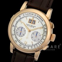 A. Lange & Söhne Datograph silver dial 18KPG/leather
