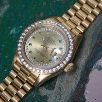 Rolex Lady-Datejust Emerald String dial & Diamond bezel...