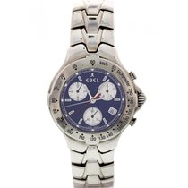 Ebel Stainless Steel Ebel Sportwave Blue Chronograph E9251641