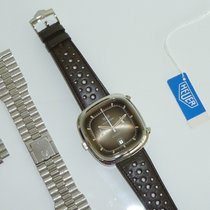 Heuer Silverstone, NOS, with sticker, hang tag, two bracelets