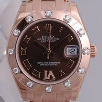 Rolex Masterpiece Midsize 18K Solid Rose Gold Diamonds