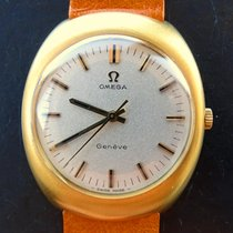 Omega Geneve Gelb Gold 18K 750 Vintage Herren Armbanduhr 1970