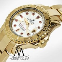 Rolex Ladies Rolex Yacht-master 18kt Yellow Gold Mop Factory...