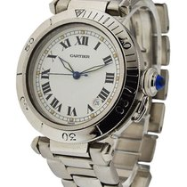 Cartier pasha_ss_ss_bracelet 38mm Pasha Automatic - Steel on...