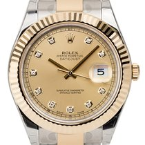 Rolex Datejust II Steel and Yellow Gold Champagne/Diamonds...