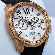 Cartier Calibre W7100044 18k Rose Gold 42mm Chronograph Automatic