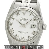 Rolex Datejust Stainless Steel White Roman Dial F Serial