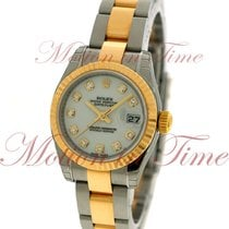 Rolex Datejust Ladies 26mm, White Diamond Dial, Fluted Bezel -...
