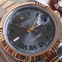 Rolex Datejust ST / GG 41 MM+NEU+B&P+FOLIERT+ Slate Roman...