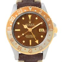Rolex Gmt Master Rootbeer Gold Steel Nipple Dial Vintage Watch...
