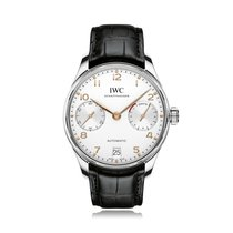 IWC Schaffhausen Portugieser Steel 168 Hour Power Reserve Mens...