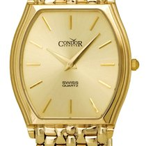 Condor 14kt Gold Mens Luxury Swiss Watch Quartz GS21004