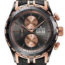 Edox Grand Ocean Chronograph Rose Gold & Black PVD Men's Watch...