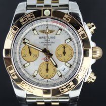 Breitling Chronomat 41mm Gold/Steel White Dial, Full Set...