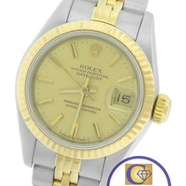 Rolex DateJust 26mm 69173 Two-Tone Gold Stainless Champagne...