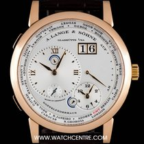 A. Lange & Söhne 18k Rose Gold Silver Dial 1 Time Zone...