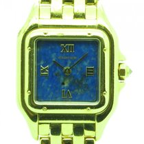 Cartier Panther Solid 18k Yellow Gold W/ Blue Sodalite Dial