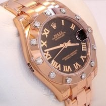 Rolex Midsize Masterpiece 18k Rose Gold 12 Fact Diamond Bezel...