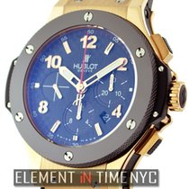 Hublot Big Bang 18k Rose Gold Chronograph On Rubber 44mm