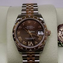 勞力士 (Rolex) 178341 31mm Datejust 18K Gold Steel Choco VI Dial...