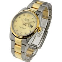 Rolex Used 16203 2-Tone Mens Datejust with Oyster Bracelet -...