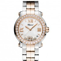 Chopard 278488-6001 Happy Sport 36mm Gold Diamonds Lady