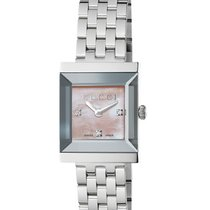 Gucci G-Frame Mother Of Pearl Rose Dial 19mm YA128401 T