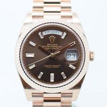 Rolex Day Date Ref 228235/Choco & Diamonds TEW