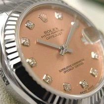 Rolex Midsize Ss/18k White Gold Pink Diamond Dial Oyster Model...