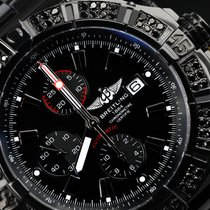 Breitling Black Breitling Super Avenger A13370 3ct Black...