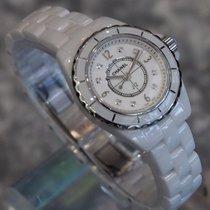Chanel --- J12 29mm Quartz White Ceramic Diamond Dial Ref....