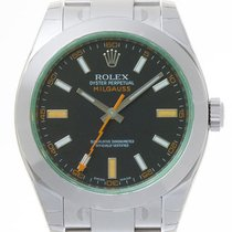 Rolex Milgauss 116400 Green Crystal Black Dial Box & Papers