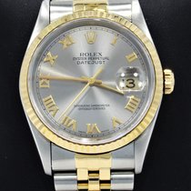 Rolex Datejust 16233 Jubilee 36mm 18k Yellow Gold /ss Roman...