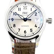 IWC Pilots Midsize Silver Dial Gray Leather Automatic Watch...