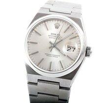 Rolex Mens SS Oyster Quartz Datejust - Silver Stick Dial - 17000