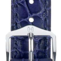 Hirsch Uhrenarmband Leder Aristocrat blau 03828080-2-18 18mm